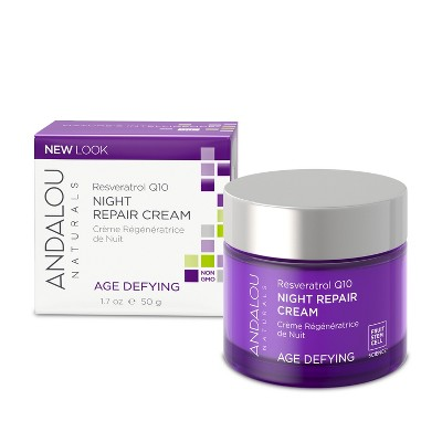 Facial Moisturizer: Andalou Naturals Resveratrol Q10 Night Repair Cream