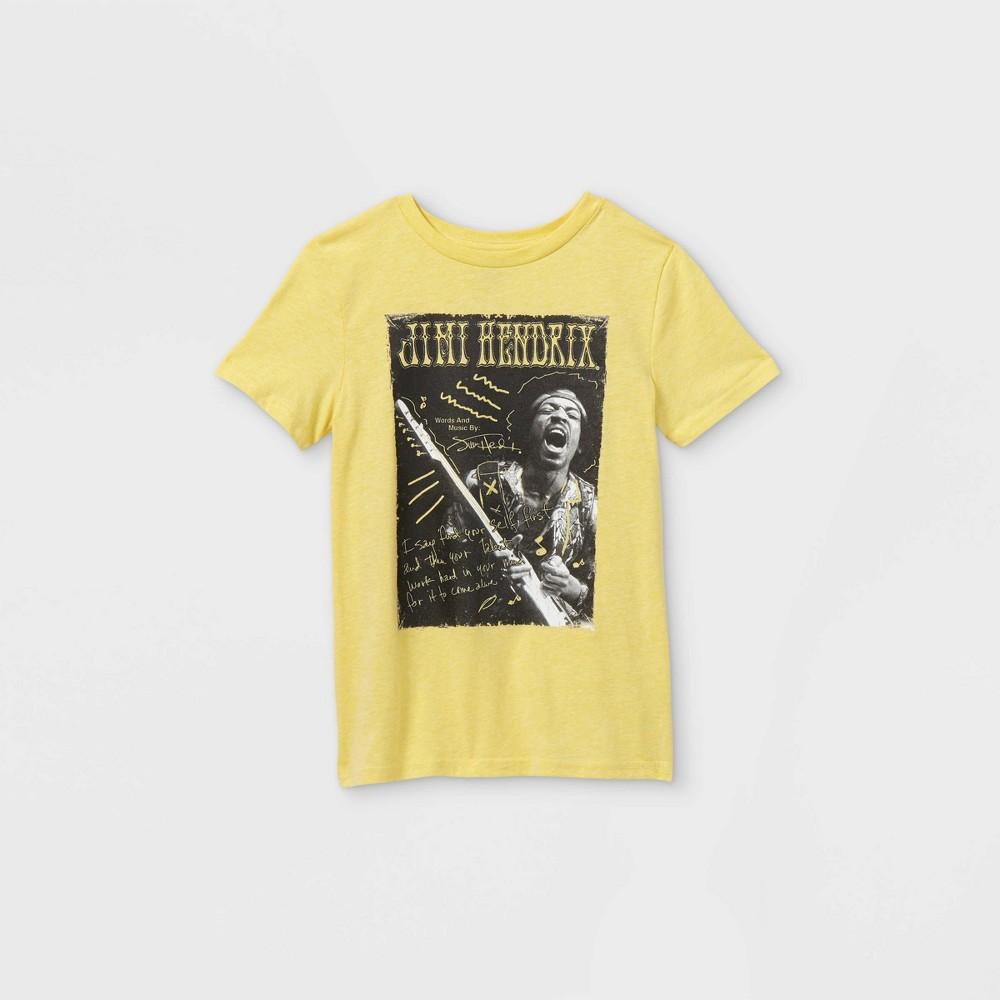 Boys 39 Jimi Hendrix Short Sleeve T Shirt Yellow L