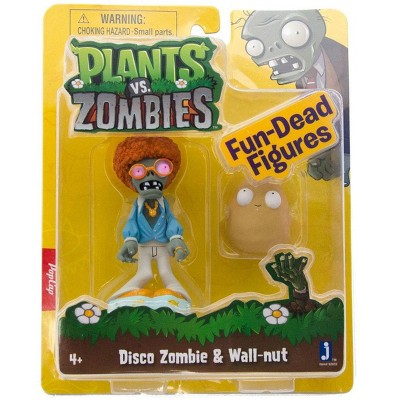 """The Zoofy Group LLC Plants Vs Zombies 3"""" Figure 2-Pack: Disco Zombie & Wall-nut"""