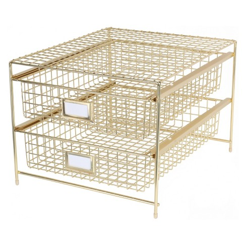 desktop storage drawer set gold threshold target. Black Bedroom Furniture Sets. Home Design Ideas