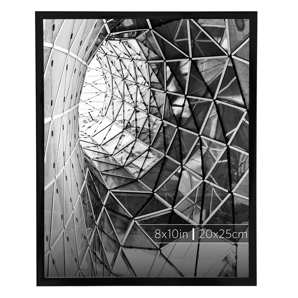 "Image of ""Burnes of Boston 8"""" x 10"""" Aluminum Gallery in Smooth Finish Single Image Frame Black"""