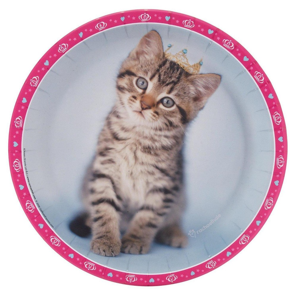 24ct Rachael hale Glamour Cats - Dinner Plate, Multicolored