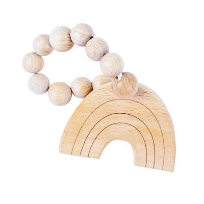 Bebe au Lait Wooden Teethers - Rainbow
