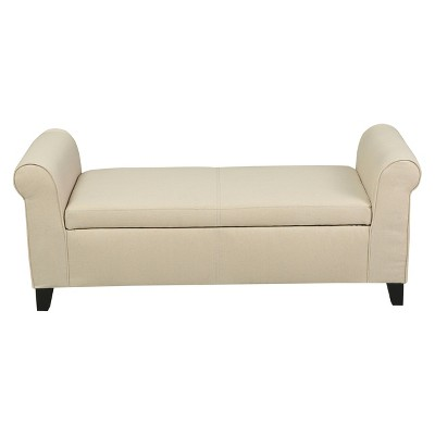 Hayes Armed Storage Ottoman Bench - Christopher Knight Home