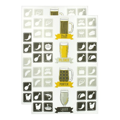"""2pk Craft Beer Print Kitchen Towel 20""""x 30"""" - MUkitchen"""