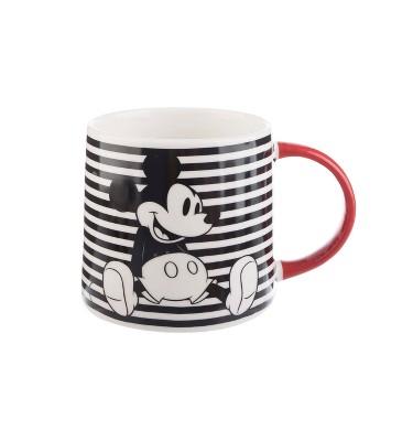 Mickey Mouse & Friends Mickey Mouse Porcelain Mug 26oz Stripes - Black/White