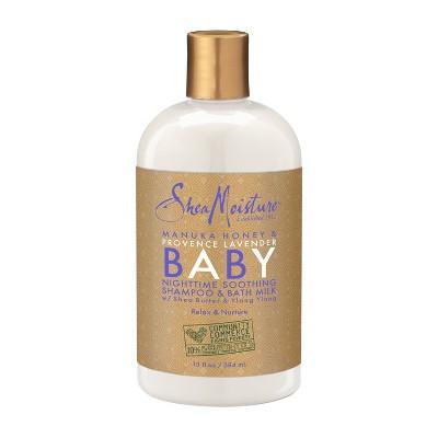 SheaMoisture Manuka Honey & Provence Lavender Baby Nighttime Soothing Shampoo & Bath Milk - 13 oz