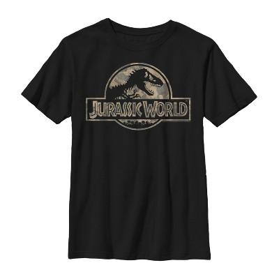 Boy's Jurassic World Camouflage Print Logo T-Shirt