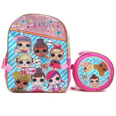 Accessory Innovations Company LOL Surprise! Gangs All Here 16-Inch Girl's Backpack w/ Lunch Tote