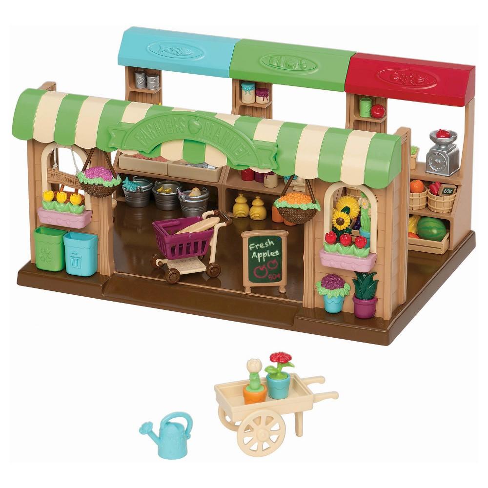 Li'l Woodzeez Medium Playset - Farmer's Market, Multi-Colored