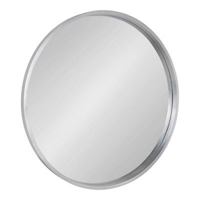 "32"" Travis Round Wall decorative Mirror Silver - Kate & Laurel All Things Decor"