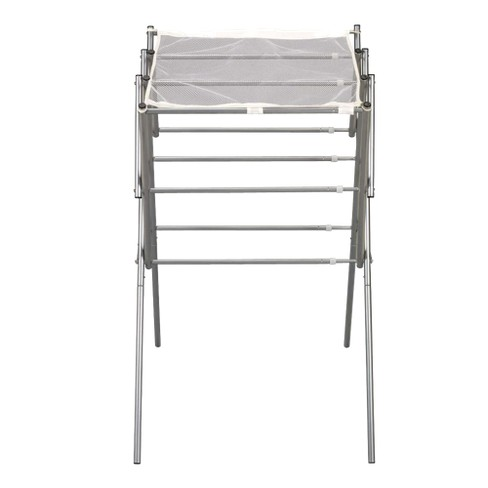 Household Essentials Extendable Folding Drying Rack with Shelf - image 1 of 4