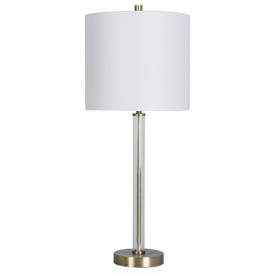 Clear Tube Buffet Table Lamp Brass (Includes Energy Efficient Light Bulb)- Project 62™