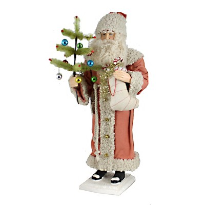 """Christmas 20.0"""" Vintage Santa With Stocking Tree Ornaments Candy Cane  -  Decorative Figurines"""