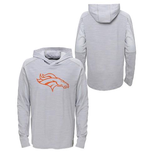 Wholesale Denver Broncos Boys' Lightweight Gray Pullover Hoodie XS : Target