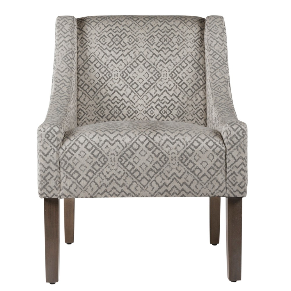 Swoop Arm Chair - Gray & White Geo