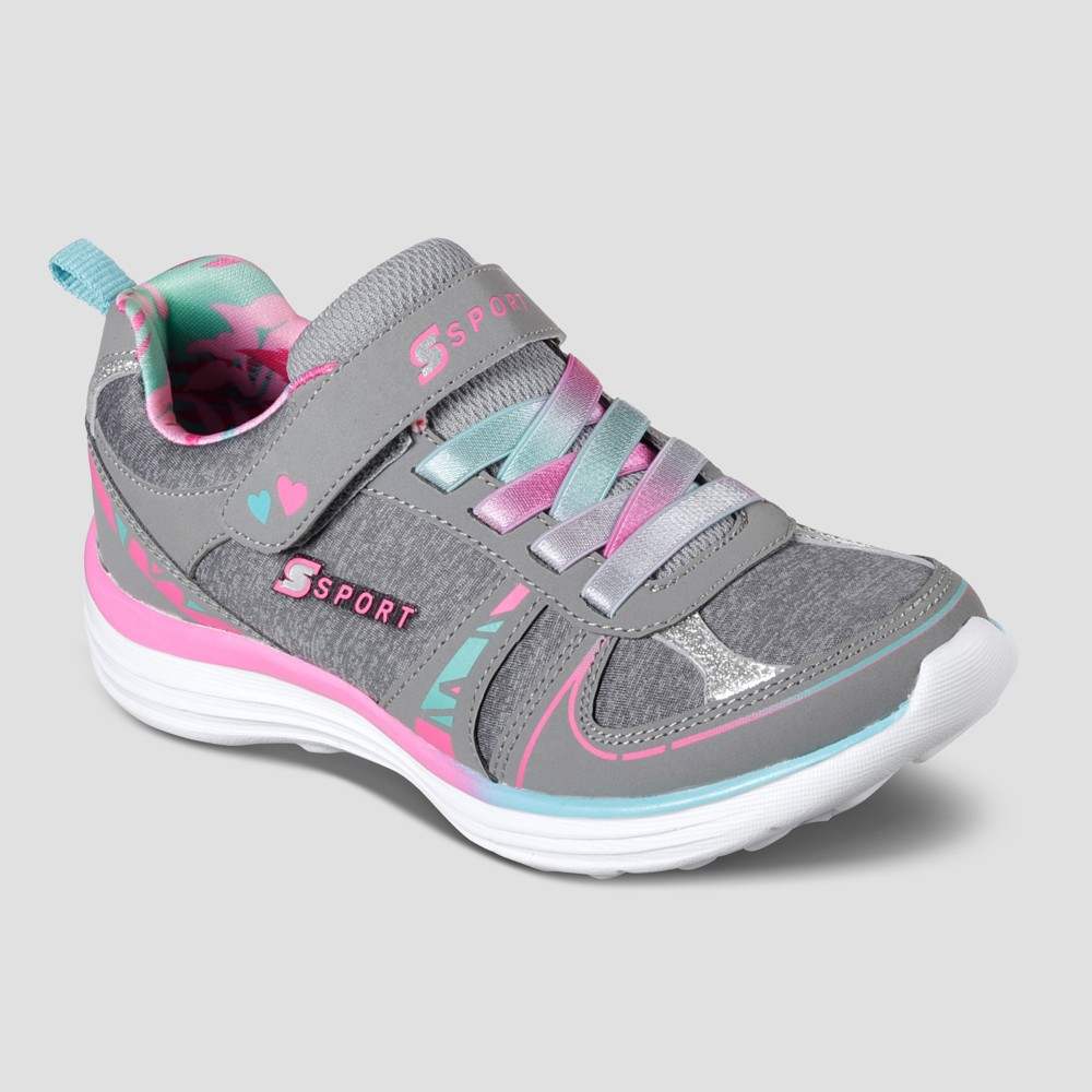 Girls' S Sport BY Skechers Laycie Performance Athletic Shoes - Gray 1, Blue Gray Pink