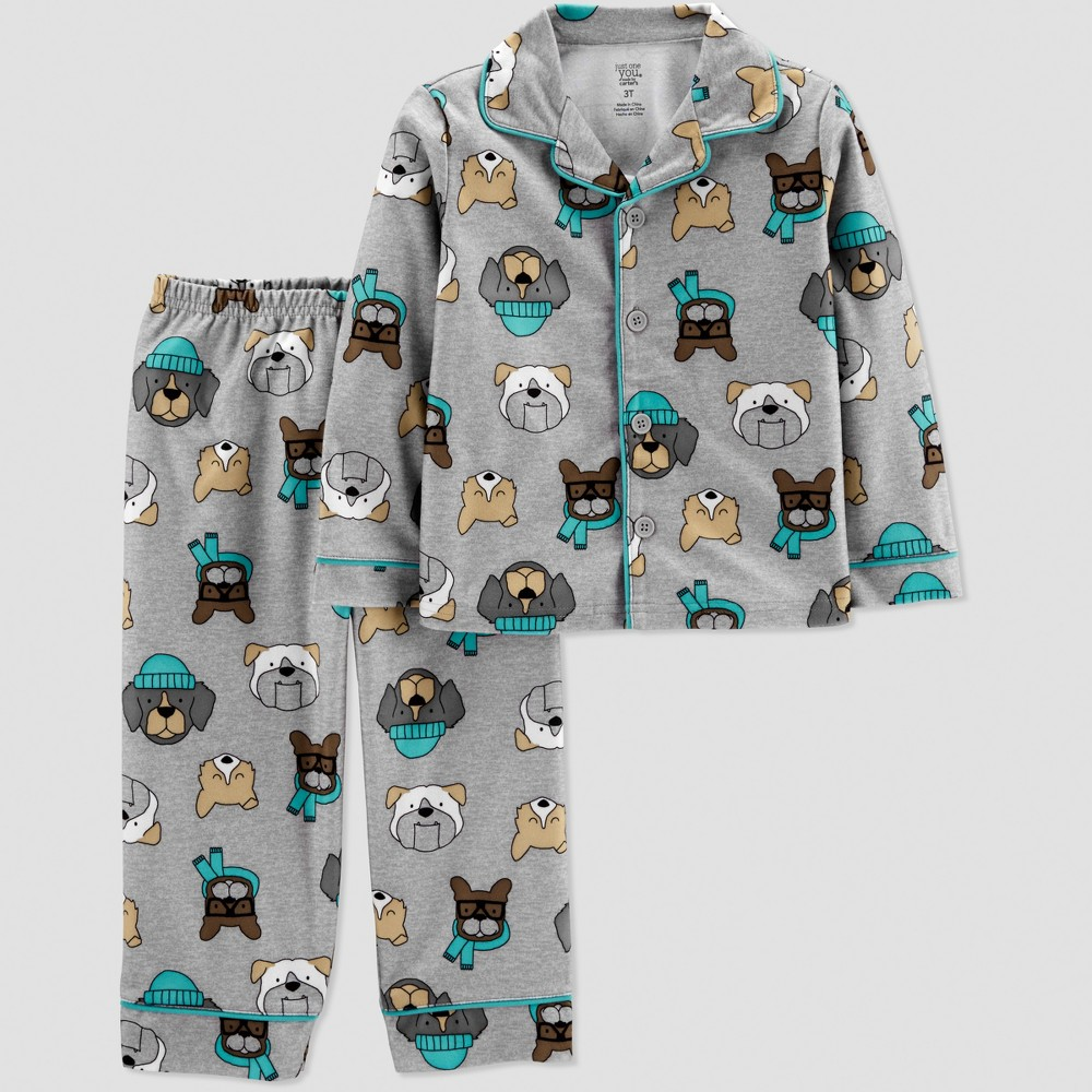 Toddler Boys' Dogs Coat Pajama Set - Just One You made by carter's Gray 5T