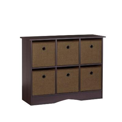 Riverridge 6 Cubby Storage Cabinet With Bins