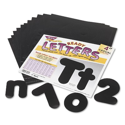 "Trend Ready Letters Casual Combo Set Black 4""h 182/Set T79901"