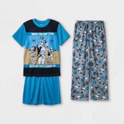 Boys' Star Wars 3pc Pajama Set - Blue/Gray