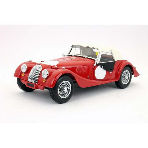 Morgan 4 Red With White Top Side Curtains 1 18 Cast Car Model By Kyosho Target