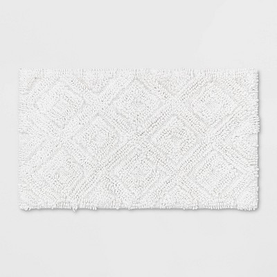 Diamond Bath Rugs (20 x34 )White - Threshold™