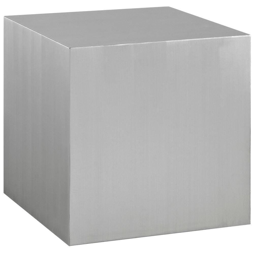 Image of Cast Stainless Steel Side Table Silver - Modway