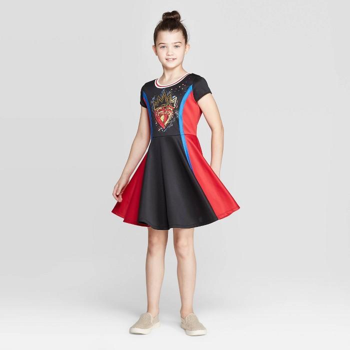 Girls' Descendants 3 Evie Cosplay Dress - Black/Red - image 1 of 3