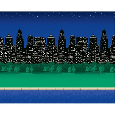 4pk 4'x12' Fadeless Bulletin Board Art Paper City Lights - Pacon