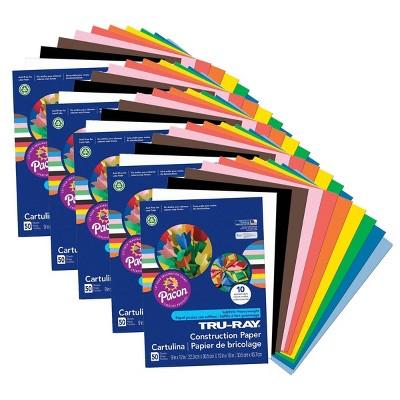 "5pk 50 Sheets/Pk 9"" x 12"" Tru-Ray Construction Paper Multicolor - Pacon"
