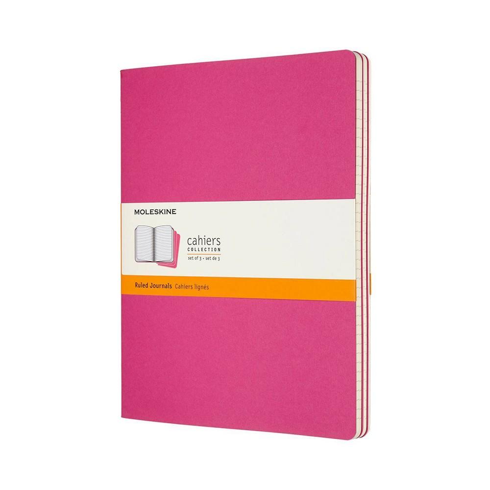 Moleskine Narrow Rule Notebook Xl Cahier Kinetic Pink