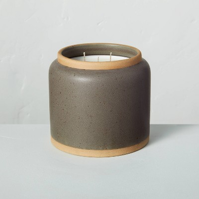 Smoked Woods Speckled Ceramic Seasonal Candle - Hearth & Hand™ with Magnolia