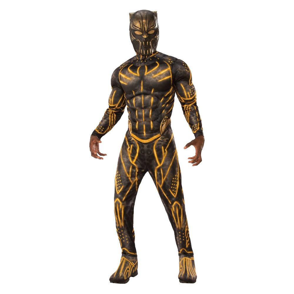 Marvel Men's Black Panther Deluxe Erik Killmonger Halloween Costume - XL, Multicolored