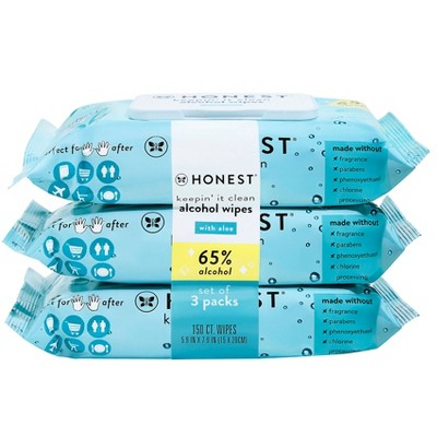 The Honest Company Alcohol Hand Sanitizing Wipes - 3pk/150ct