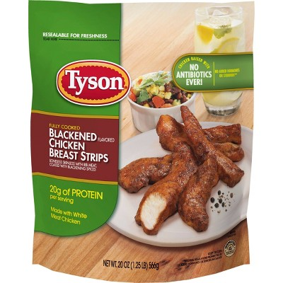 Tyson Blackened Flavored Chicken Breast Strips - Frozen - 20oz