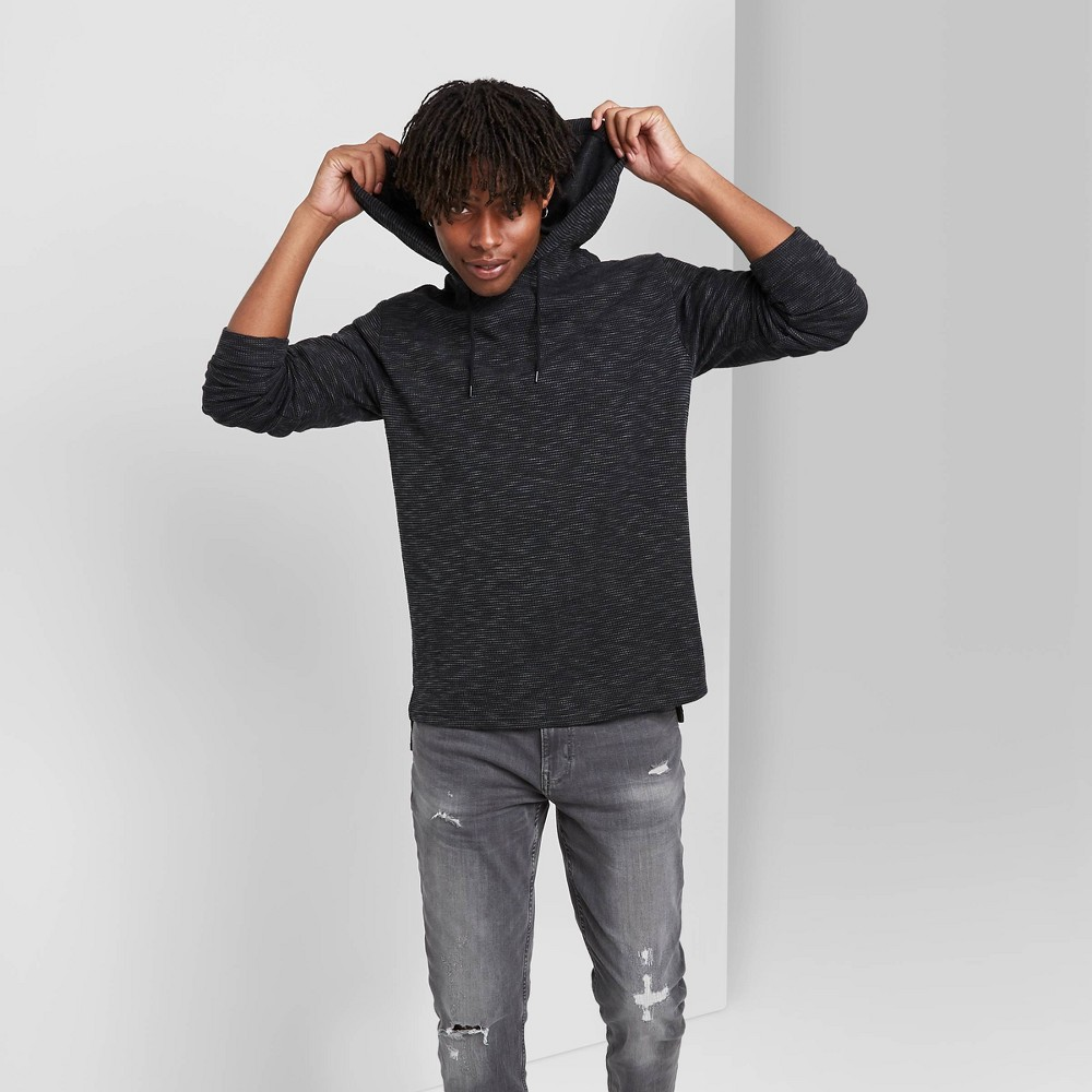 Men 39 S Hooded Knit Sweatshirt Original Use 8482 Black S