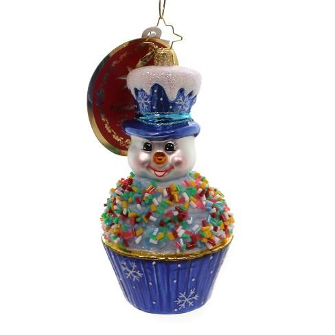 "Christopher Radko 5.0"" Tasty Snowman Treat Sprinkles Cupcake - image 1 of 2"