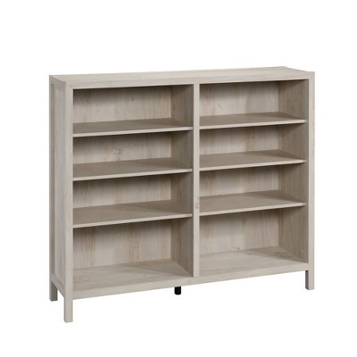 """47.63"""" Pacific View Vertical Bookcase with 4 Adjustable Shelves Chalked Chestnut - Sauder"""
