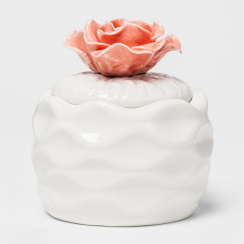 Lidded Ceramic Flower Candle 5oz - Island Blossom - image 1 of 2