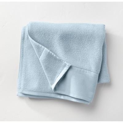 Linen Cuff Bath Towel Light Blue - Casaluna™