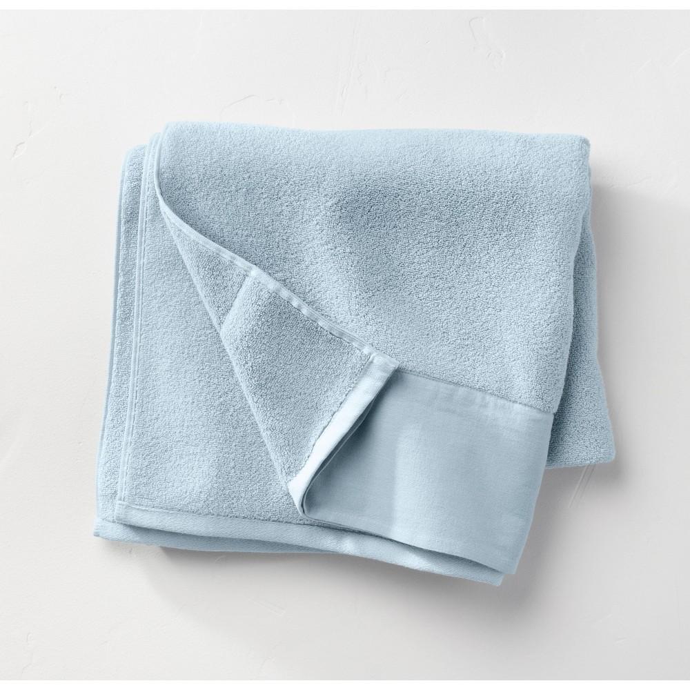 Linen Cuff Bath Towel Light Blue Casaluna 8482