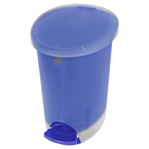 Step Open Trash Can Oval 2.6gallon Blue&nbsp - Room Essentials™ - image 1 of 1