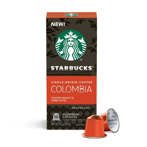 Starbucks Nespresso Colombian Espresso Roast Capsules - 10ct/2.01oz - image 1 of 4