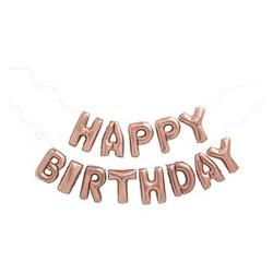 """Happy Birthday"" Balloon Rose Gold - Spritz™"
