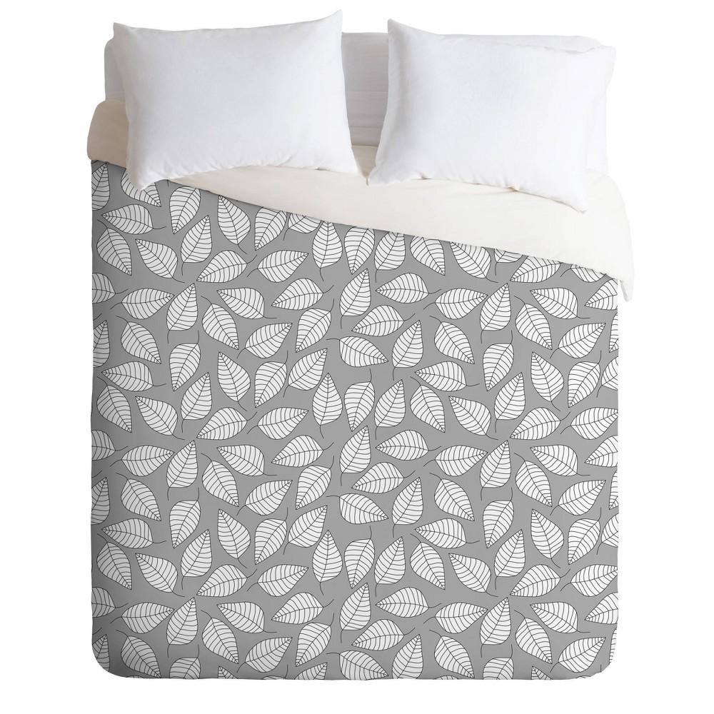Discounts Twin/Twin XL Bianca Green Leafy Duvet Set  - Deny Designs