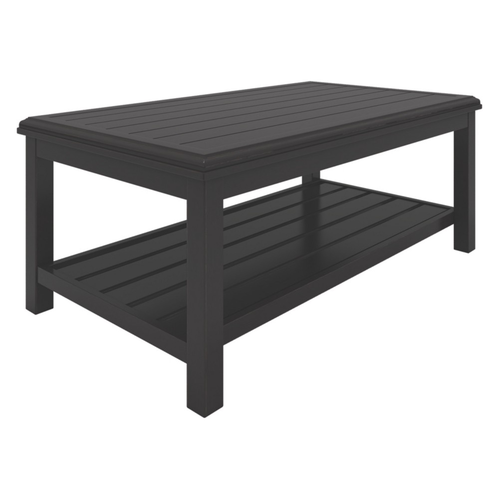 Image of Castle Island Rectangular Cocktail Table - Dark Brown - Outdoor by Ashley