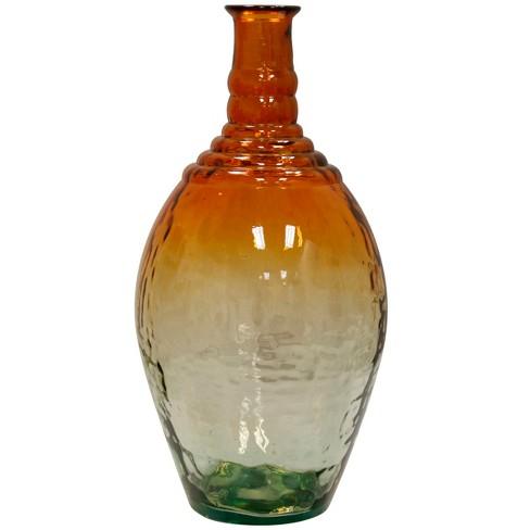 Decorative Vase - Orange / Clear - image 1 of 2