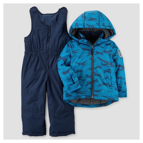 21e618448 Toddler Boys  Airplanes Snowsuit with Bib - Just One You™ Made by Carter s®  Navy 2T