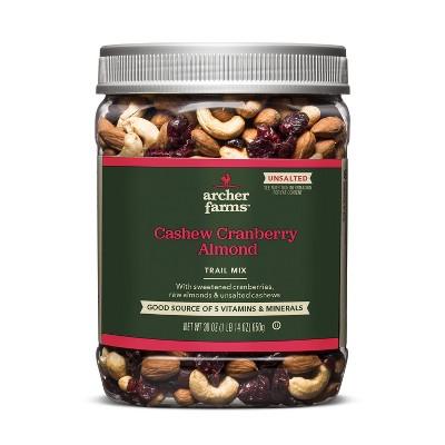 Unsalted Cashew Cranberry Almond Trail Mix - 30oz - Archer Farms™